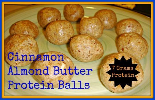 cin alm butter prot balls
