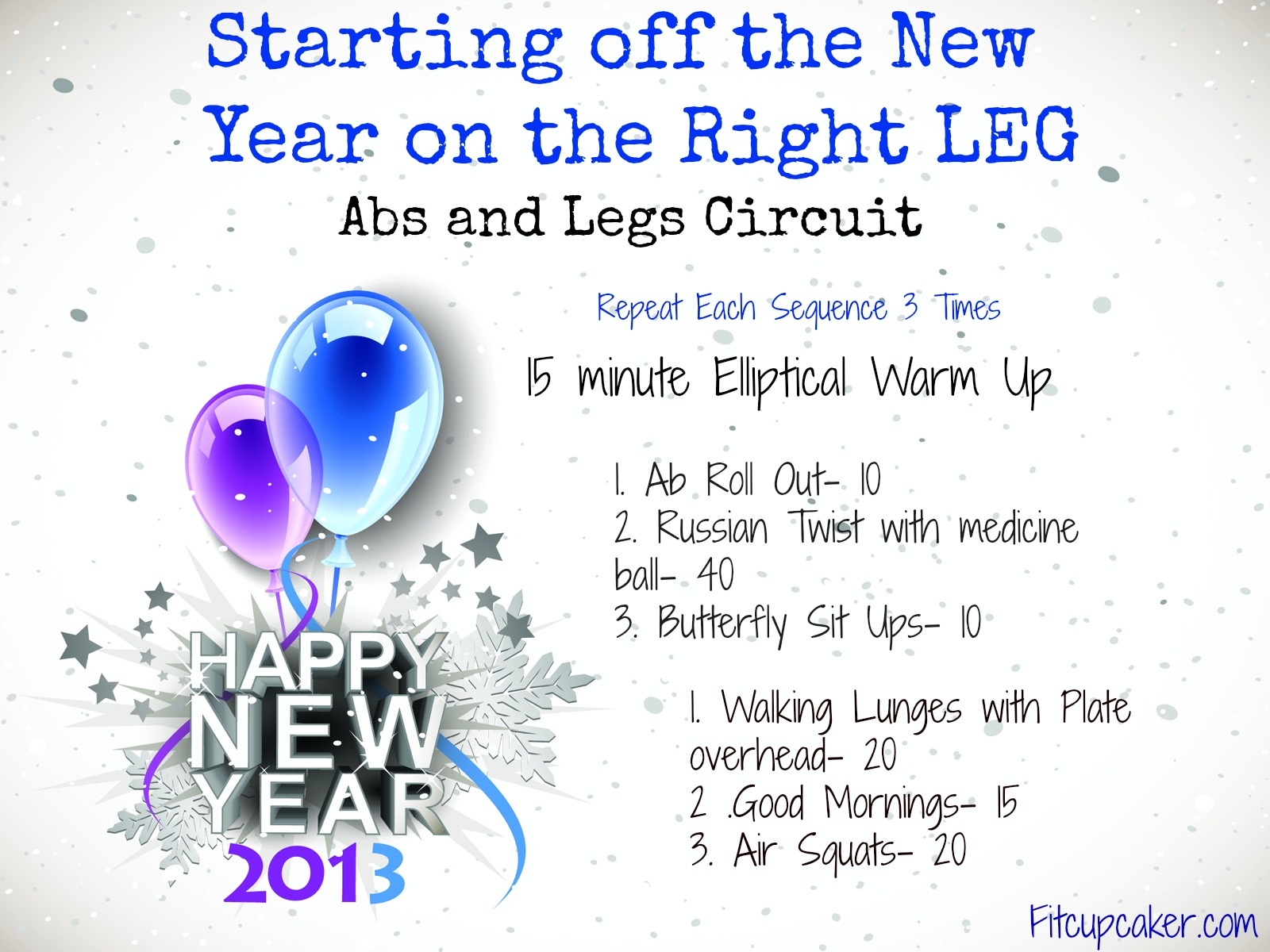 New year leg circuit