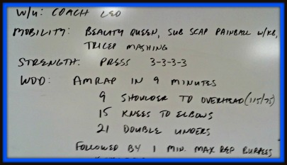 crossfit thurs 228 WOD