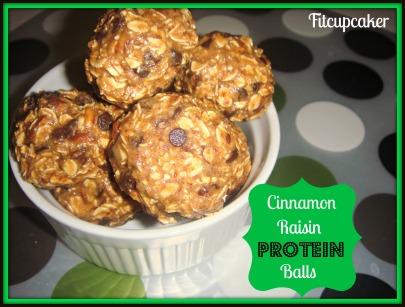 cinn raisin protein balls