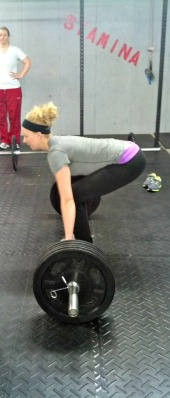 me crossfit snatch DL