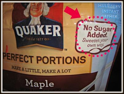 no sugar added oats