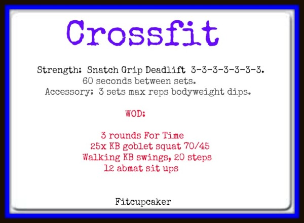 snatch grip DL WOD