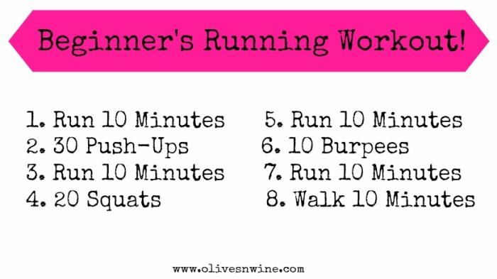 Beginners Running Workout